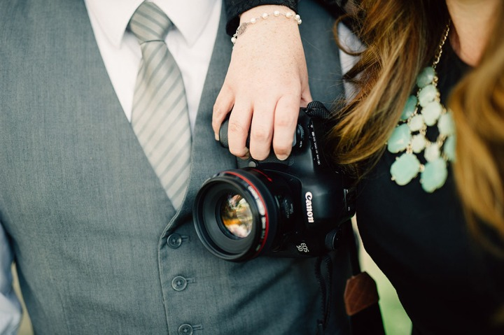 Mint an Black Canon Camera Wedding Photographers